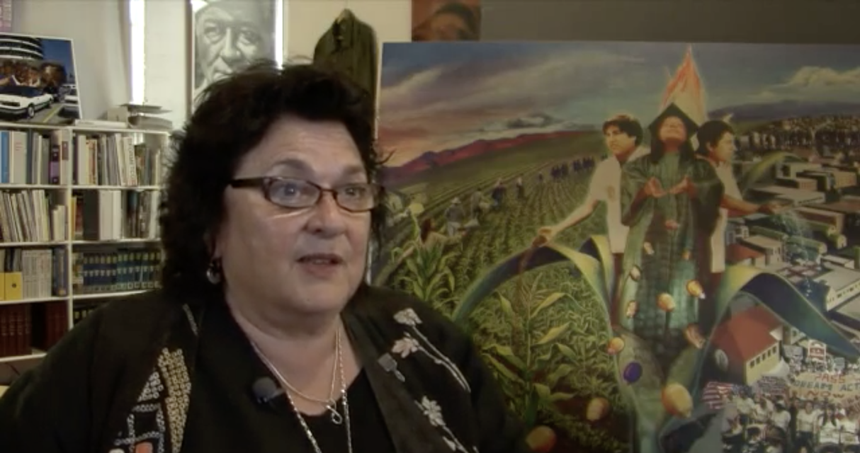 "Judy Baca talks about her experience painting *The Great Wall of Los Angeles*, ""20 Innovators,"" (2011) NBC Latino, online video, 2:10 minutes."