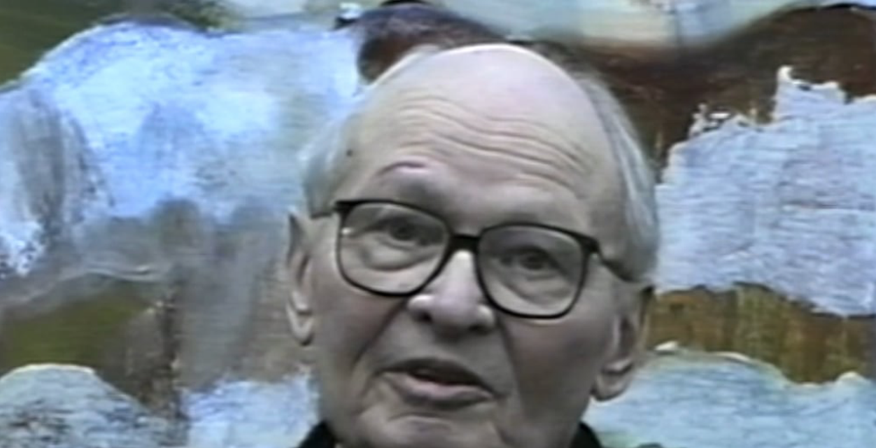 Clip of Elmer Bischoff speaking in *The Berkeley Artists Breakfast Club*, 1990. Full length version available at https://vimeo.com/95426121