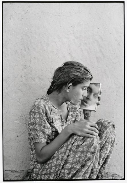 "Gauri Gill, *Jannat, Barmer*, from the series ""Notes from the Desert,"" 1999–2010. Gelatin silver print on paper, 30 x 24 inches."