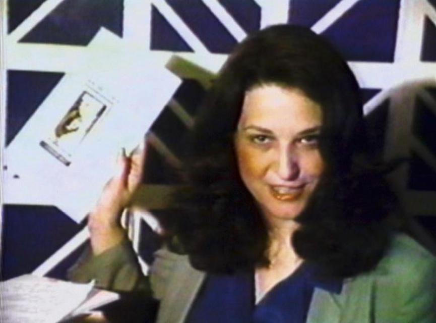 Video still from Lynn Hershman Leeson, *A Commercial for Myself,* 1978. Video, 1:34 minutes.