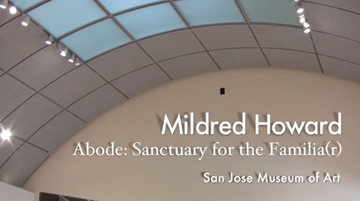 Clip from an interview with Mildred Howard regarding her work *Abode: Sanctuary for the Familia(r)* (1994) at the San José Museum of Art, 2009.