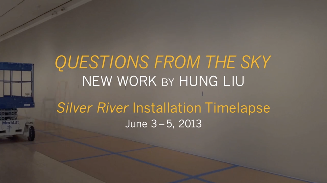 Time-lapse video of the making of Hung Liu's *Silver River* (2013) at the San José Museum of Art, June 3–5, 2013.