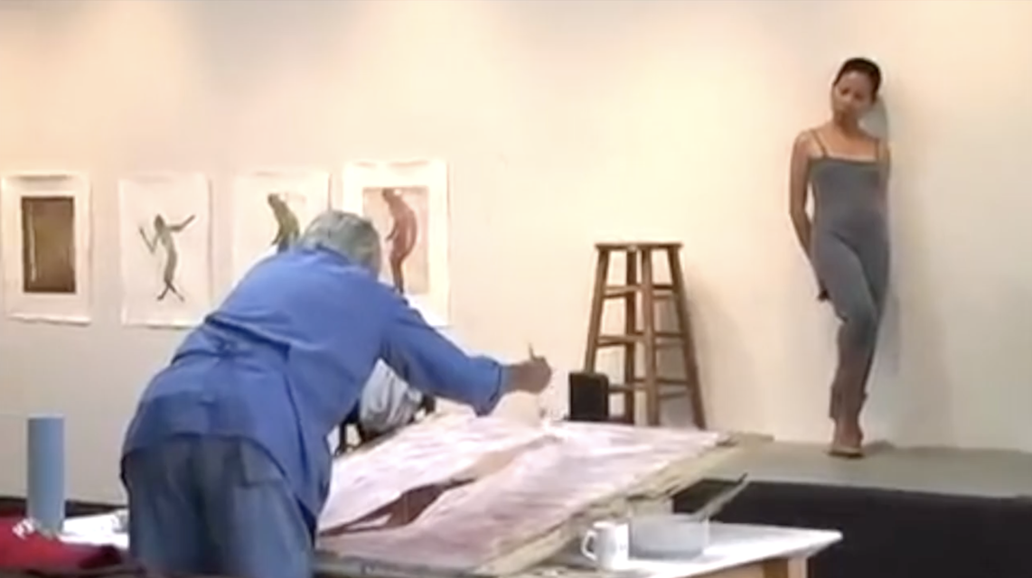 Clip from *Nathan Oliveira at Crown Point Press*, ca. 2007.